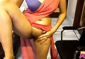 Indian Amateur More Saree Akin Her Shaved Mint Pussy