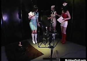 HN Rubberella Trains RubberDoll &_ Anastasia Above Fuck Machines