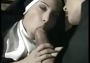 Naughty priest shacking up two hot nuns