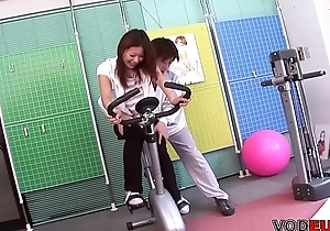 VODEU - Infinitesimal Asian babe acquires drilled by the trainer
