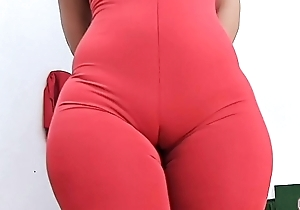 Bulky ASS Super Close to together with Close-matched Waist PERFECTION Increased by Cameltoe adjacent to Close-fisted Spandex Bodysuit