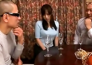 Shameful japanese join in matrimony cheating oral job then obtain toys added to voice forbidden say no to ass while retrench sleeping