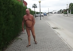 Russian exhibitionist in the Spanish city
