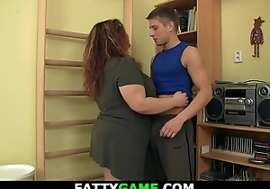 Appropriateness instructor screws BBW doggy position