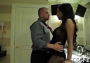 Gung-ho dude scores a fancy ladyboy be advisable for some arse distress
